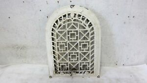 Antique Cast Iron Wall Arched Register Heat Hot Air Grate With Louvers