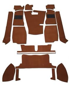 Mg Mgb Gt Coupe 1968 1980 4 Synchro Carpet Set Autumn Leaf Brown High Quality