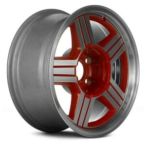 Replacement Front Wheel 16 Inch 5 Spoke Machined W red Fits Chevy Camaro