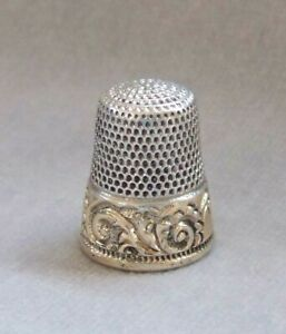 Antique Sterling Silver 14k Gold Thimble Ketchell Mcdougall