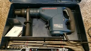 Bosch Hammer Drill 11235evs Turbo Rotary Demolition Tool In Case W attachments