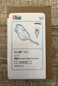 Masimo Rd Set Dci Spo2 Adult Reusable 3 Ft Finger Clip Sensor Ref 4050 New