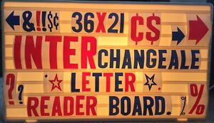 36x21 Changeable 6 4 2 Letters Message Sign Menu Price Backlit Read