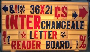 36x21 Changeable 6 4 2 Letters Message Sign Menu Price Backlit Reader Board