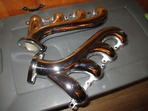 Headers Ls Swap Chrome C Iron Exhaust Manifolds 2 25 Muscle Cars Hot Rods 8501
