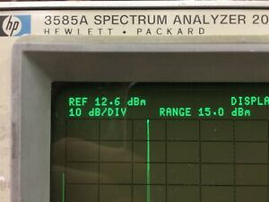 Hp 3585a 20 Hz 40 Mhz Spectrum Analyzer Ex Operating Tested Guaranteed
