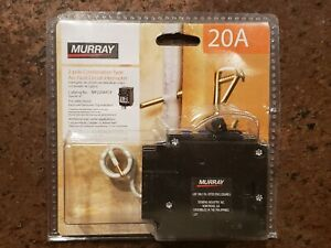 Murray 20a 2 Pole Combination Type Arc fault Circuit Interrupter Mp220afcp