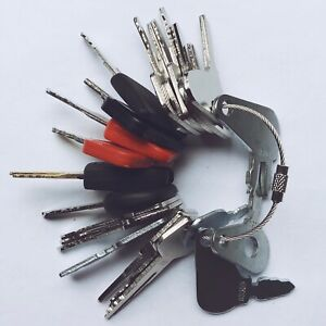 25 Keys Heavy Equipment Construction Ignition Key Set Fit For Cat Volvo Case