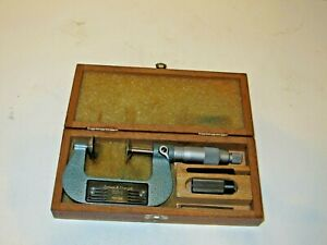 Brown Sharpe 223 2 1 2 Inch Disc Micrometer With 1 Flange