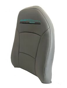 2008 Ford Work Van Driver Lean Back Perforated Synthetic Leather Seat Cover Gray