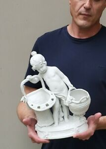 Fine Large Antique French Parian Bisque Cherub Putti Figurine 12 3 4