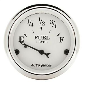 Autometer 1605 Old Tyme White Fuel Level Gauge