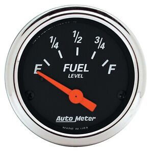 Autometer 1422 Designer Black Fuel Level Gauge