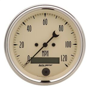 Autometer 1880 Antique Beige Electric Programmable Speedometer