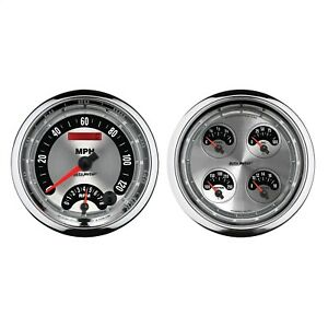 Autometer 1205 American Muscle Quad Gauge tach speedo Kit