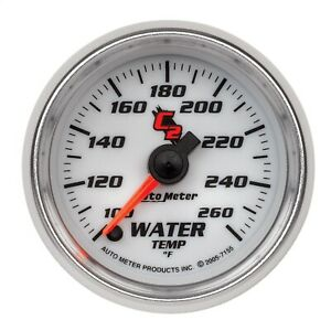 Autometer 7155 C2 Electric Water Temperature Gauge