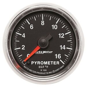Autometer 3844 Gs Electric Pyrometer Gauge Kit