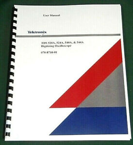 Tektronix Tds520a Tds524a Tds540a 544a User Manual Comb Bound Plastic Covers