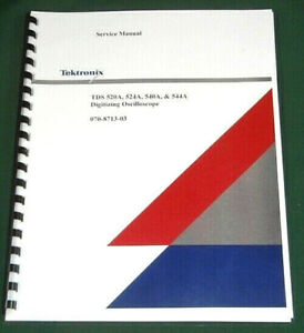 Tektronix Tds520a Tds524a Tds540a Service Manual Comb Bound Protective Covers