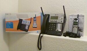 At t Synj 4 line Small Business Phone System Base 3 Cordless Expansion Handsets