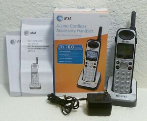 At t Synj 4 line Cordless Expansion Accessory Handset Sb67108 Set No Battery
