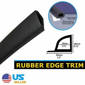 9 5ft Universal Car Door Rubber Seal Strip Noise Reduce Anti Dust Self Adhesive