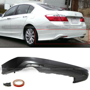 For 13 15 Honda Accord 4dr Md Style Unpainted Rear Bumper Lip Body Kit