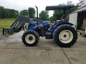 2000 New Holland Tn70a 4wd Power Shuttle With Quickie Loader
