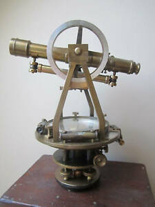 Splendid 1890 S W L E Gurley Theodolite Transit And Tripod With Measuring St