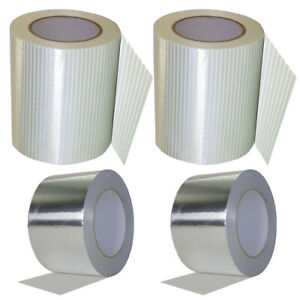 Hexayurt Tape 6in X 60yds 2 Rolls Aluminum Tape 3in X 50yds Free Shipping