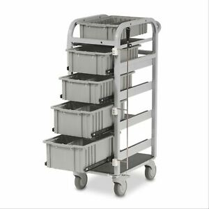 Standard Mobile Blood Draw Supply Cart Gray Frame Gray Drawers 1 Ea