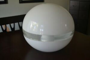 Vtg Large Glass Space Age Italian Floor Lamp 60s 70s Mid Century Modern Ufo