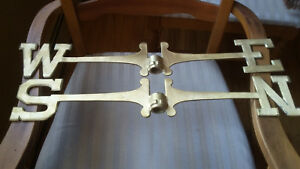 Weathervane 18 Inch Large Directionals Set Solid Brass N S E W