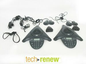 lot Of 2 Cisco Cp 7936 Unified Ip Conference Station Phone W External Mics