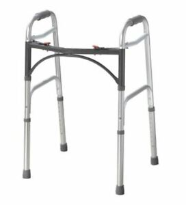 Mckesson Junior Folding Walker Aluminum 350 Lbs 25 To 32 Inch Height