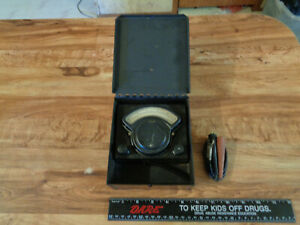 Vintage Hoyt Electrical Instruments Works Amp Meter In Metal Case bt 1