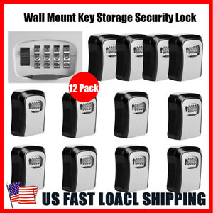 12 Pack Wall Mount 4 Digit Security Lock Box Key Storage For Realtor Real Estate