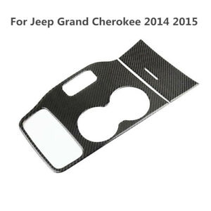 Carbon Fiber Accessories Water Cup Holder Stickers For Jeep Grand Cherokee 14 15