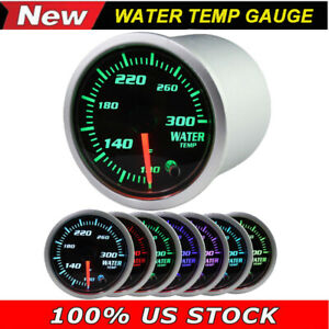 2 52mm Colorful Led Digital Voltmeter Water Temp Temperature Gauge Meter Auto