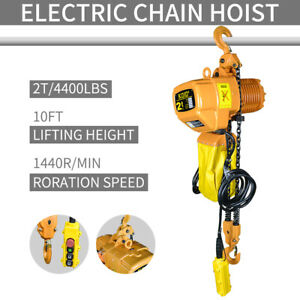 2 Ton Chain Hoist Chain Puller Block Fall Chain Lift Host 3phase 220v Electric
