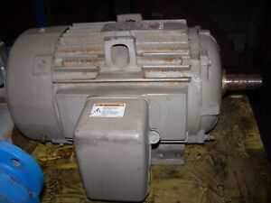 New Ge 20 Hp Ac Electric Motor 256t Frame 3550 Rpm 460 Vac Tefc 3 Phase