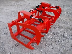 Kubota Tractor Attachment 72 Dual Cylinder Root Grapple Bucket 179 Ship