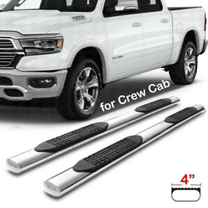 For 2019 2020 Dodge Ram 1500 Crew Cab 4 inch Running Boards Nerf Bars Side Steps