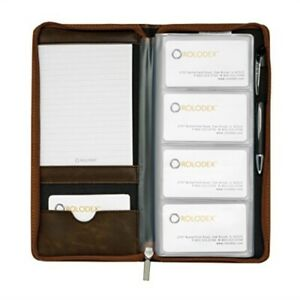Rolodex Explorer Collection Business Card Book 96 card Brown 22336
