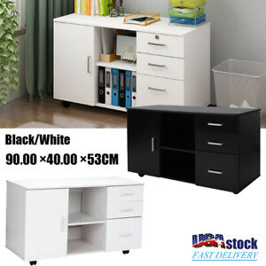 Mobile File Storage Cabinet Filing Cabinet Locking Drawer Home Office Furniture