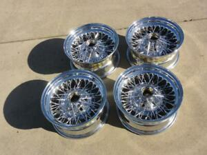 Nice Vintage 15x7 Wire Wheels Ford Chevrolet Lowrider Cadillac Corvette T Bird