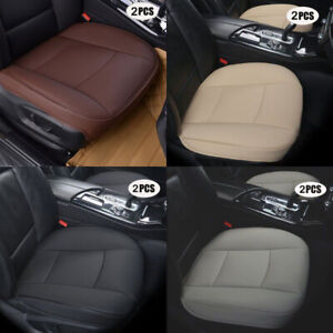 2 Front Seat Cover Mats Pu Leather 3d Full Surround For Universal Car Truck Suv