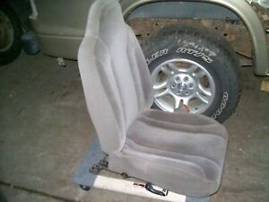2002 Dodge Dakota Quad Cab Rh Pass Side Front Bucket Seat Tan Cloth