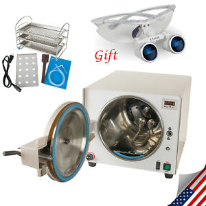 18l Dental Autoclave Steam Sterilizer Medical Sterilizition Dental Loupes Fda