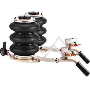 Triple Bag Air Go Bag Jack 6600 Lbs 2 Pcs Steel Rubber Quick Lift Tire Shop
